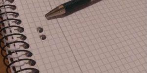 tervek - jegyzetfüzet tollal